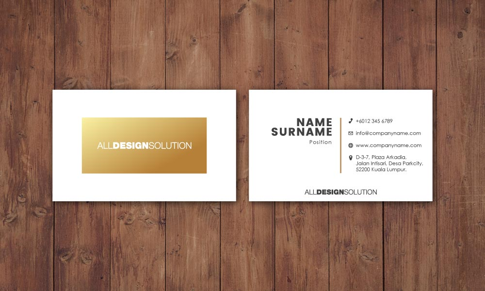 Spot UV Name Card