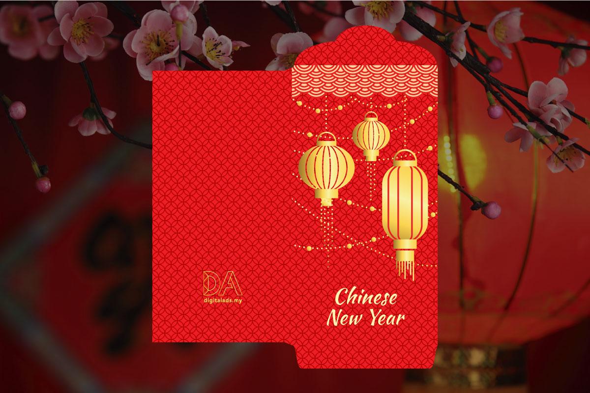 Matt Texture Paper Ang Pao Red Packet Malaysia