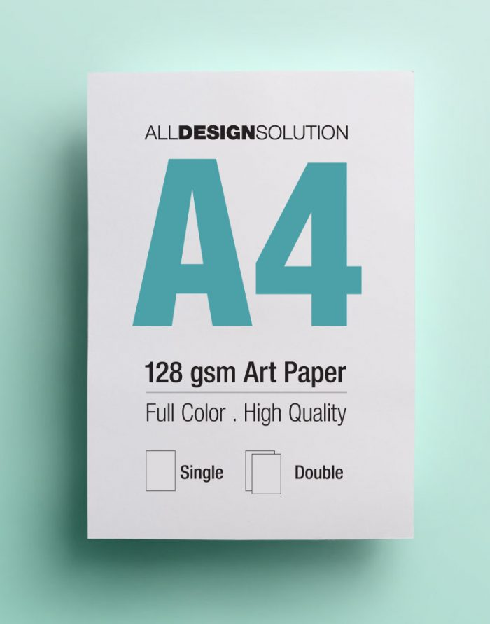 128gsm art paper flyer printing | All Design Solution