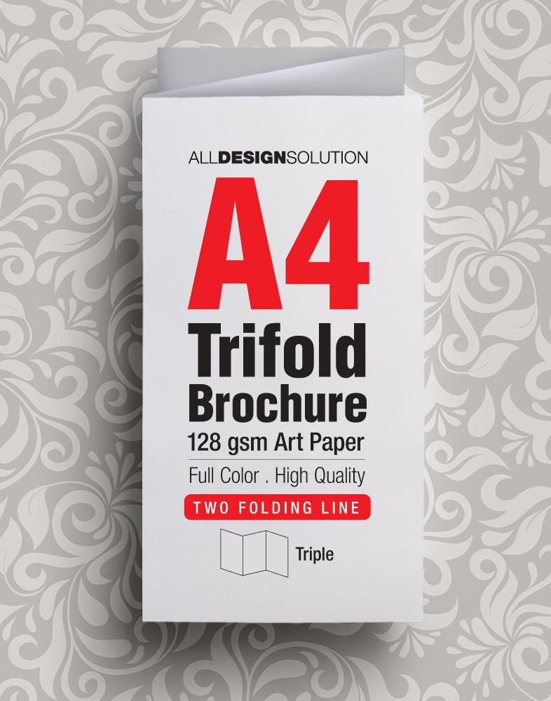 Brochure A4 128 gsm Art Paper