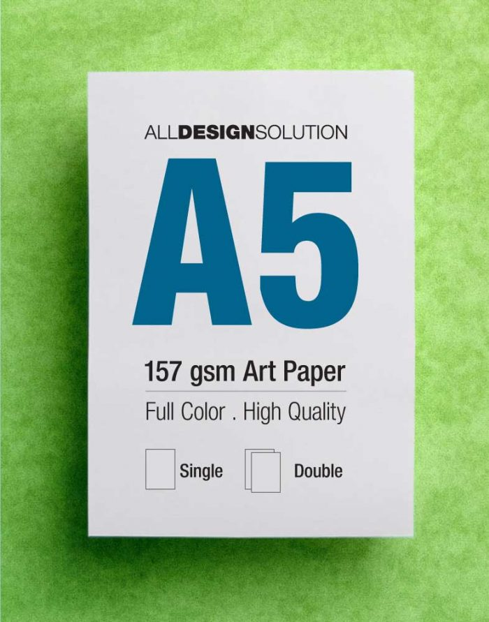 Flyer 157 gsm Art Paper A5 | All Design Solution