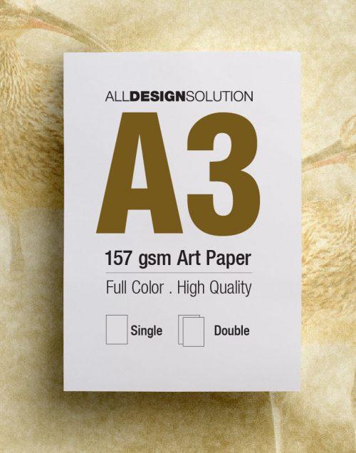 Flyer A3 128gsm 157gsm Art Paper