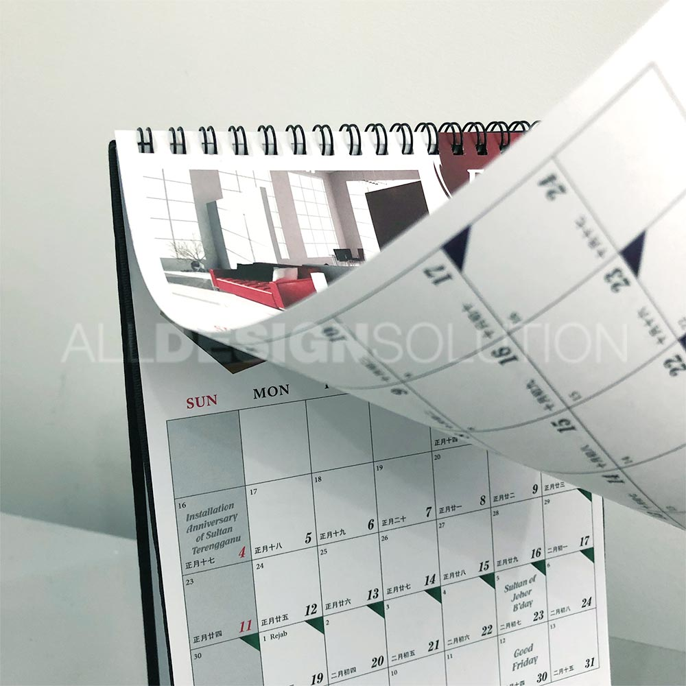 Hard Stand Desk Calendar Printing