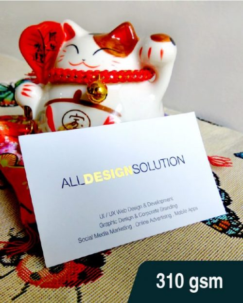 Hot Stamping Name Card 310 gsm