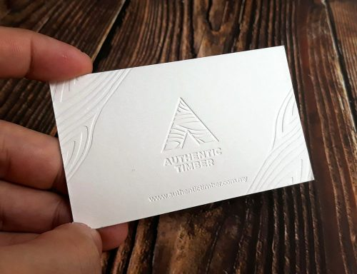 Letterpress Business Card Printing Malaysia 600gsm