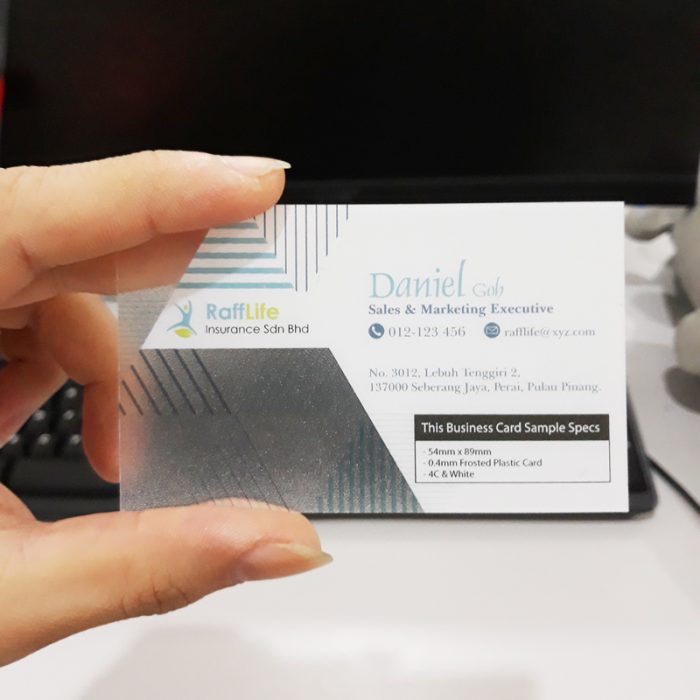 Transparent Name Card Printing 400gsm