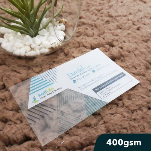 Transparent Name Card Printing 400gsm
